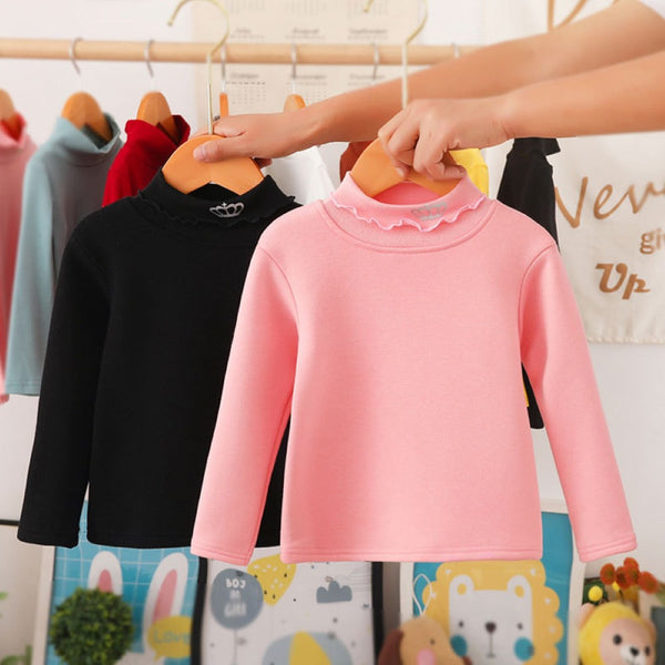Toddler Girls Solid Color Long Sleeve Top Wholesale Girl Clothing