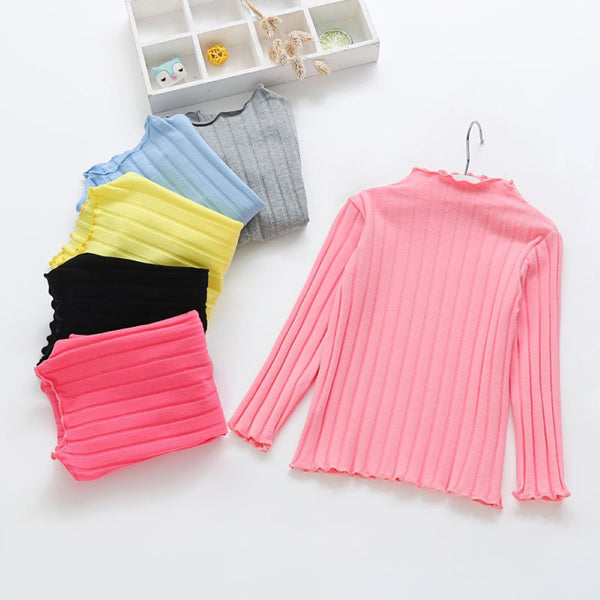 Toddler Girls Solid Color T-shirts Girls Clothing Wholesalers