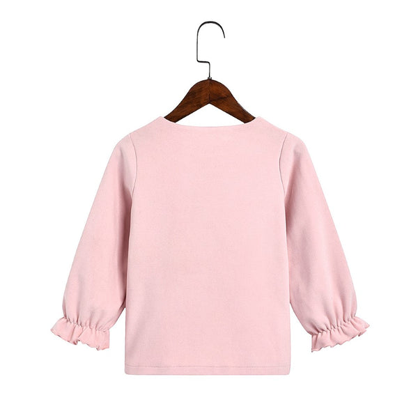 Toddler Girls Solid Long Sleeve Outwear Girls Clothing Wholesale