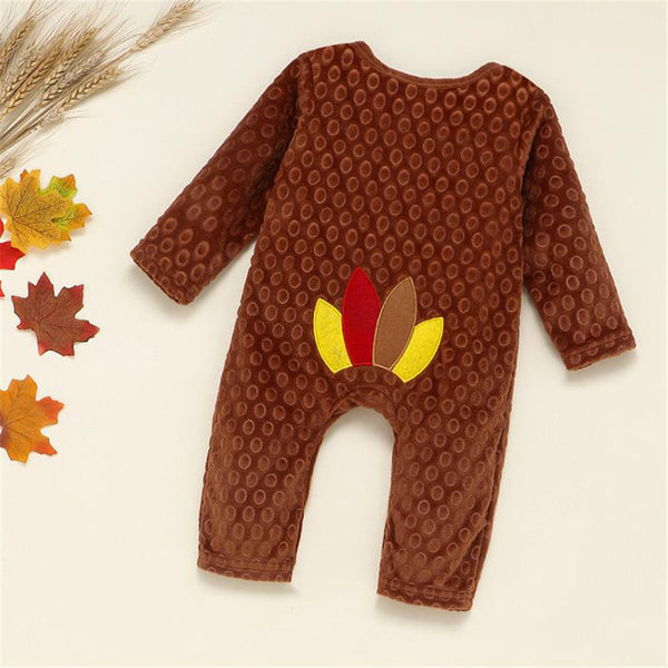 Baby Unisex Turkey Thanksgiving Long Sleeve Romper Baby Wholesales