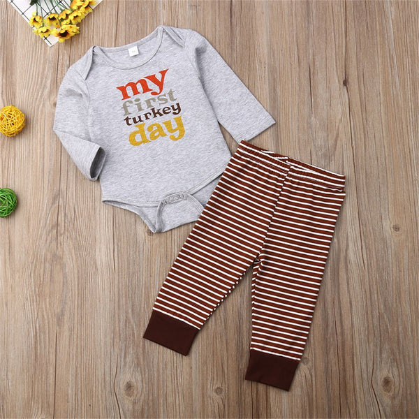 Baby Boys Turkey Thanksgiving Romper & Bottoms Buy Baby Clothes Wholesale