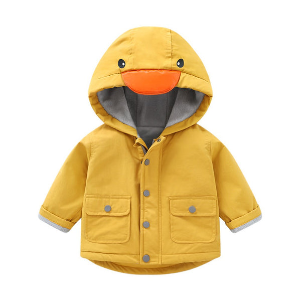 Unisex Baby Winter Cutly Duck Pattern Cotton Jacket Wholesale Boys Boutique Clothing
