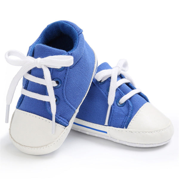 Baby Unisex Canvas Lace Up Solid Sneakers Wholesale