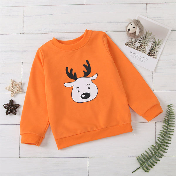 Unisex Cartoon Printed Long Sleeve Top Trendy Kids Wholesale Clothing