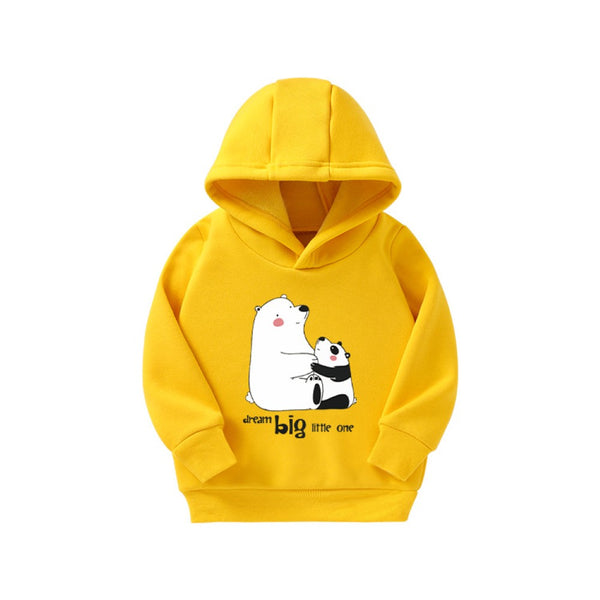 Unisex Kid Cartoon Animal Pattern Hooded Top Wholesale Boys Clothes