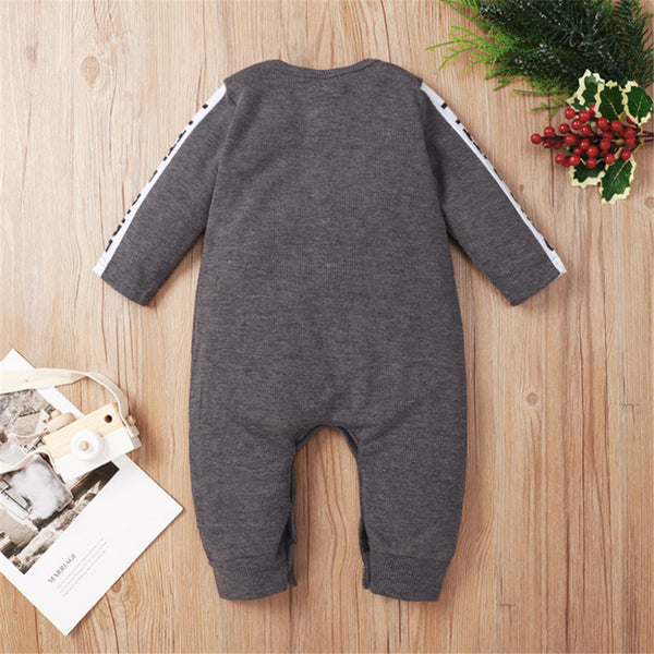 Baby Unisex Long Sleeve Letter Casual Romper Babywear Wholesale