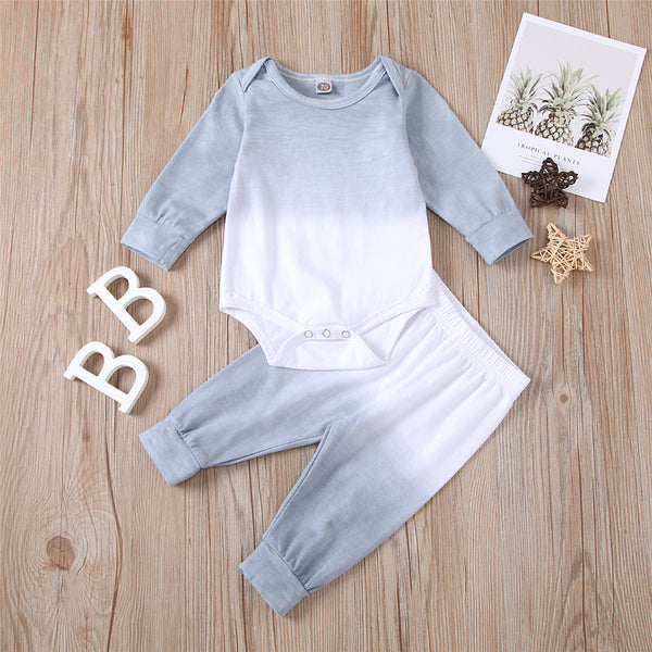 Baby Unisex Long Sleeve Tie-dye Romper & Pants Wholesale Clothing Baby