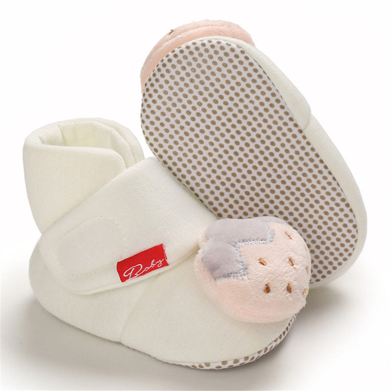 Baby Warm Cartoon Strawberry Winter Toldder Shoes