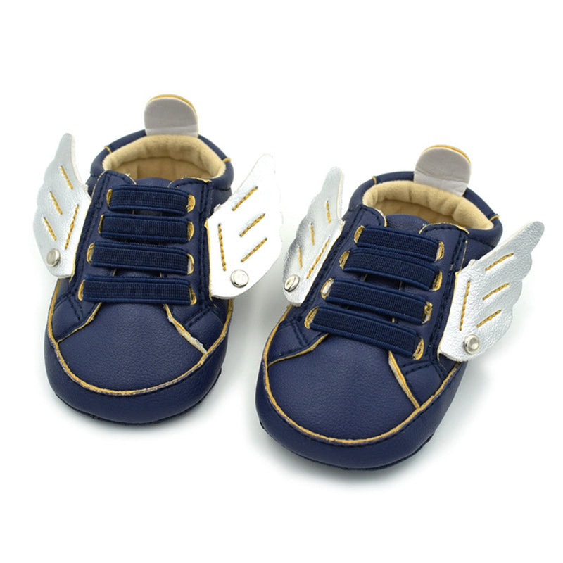 Baby Boys Winged Elastic Band Sneakers