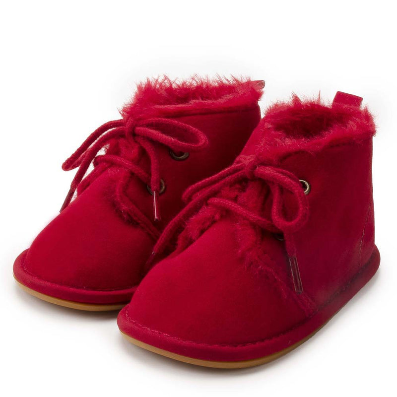 Baby Girls Winter Warm Lace Up Fur Boots Wholesale