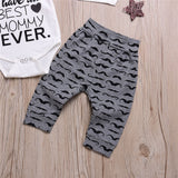 Baby Boys Letter Printed Long Sleeve Romper & Pants & Hat