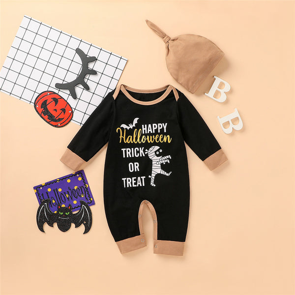Baby Boys Printed Halloween Romper & Hat Cheap Baby Clothes Wholesalers
