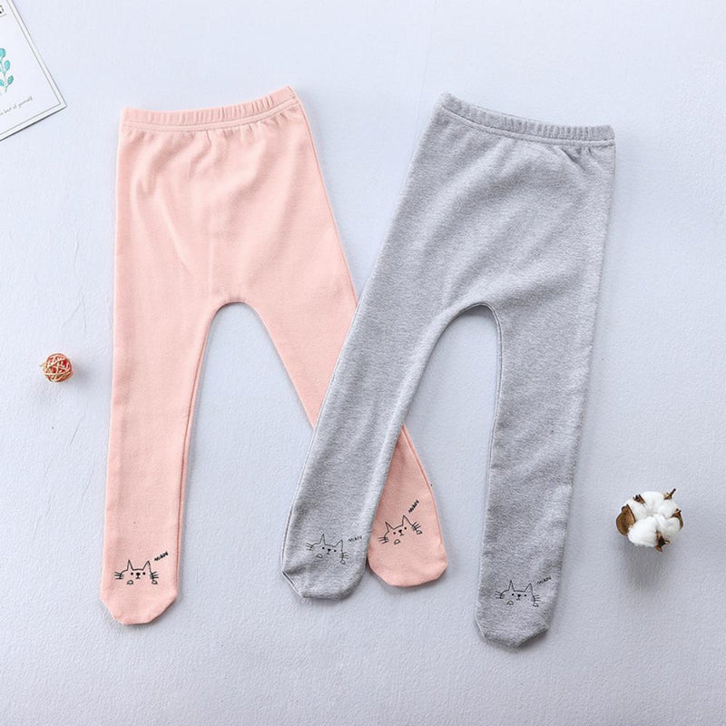 Ins Lovely Cartoon Cat Pantyhose Baby Cute Leggings Wholesale Kids Accessories