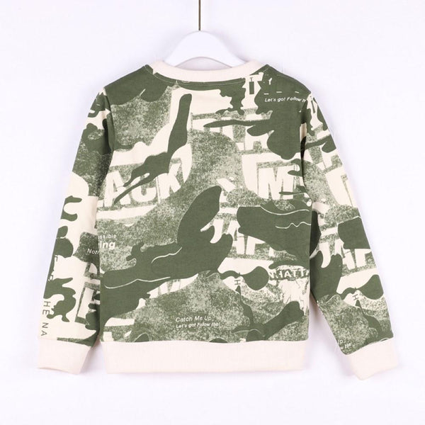 Kid Unisex Camouflage Round Neck Top Wholesale Boys Boutique Clothing