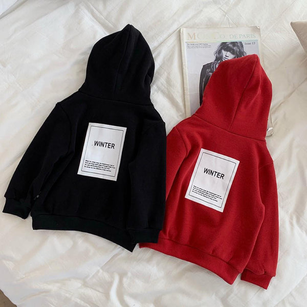 Kid Boys Letter Printed Hooded Top Wholesale Boys Clothing