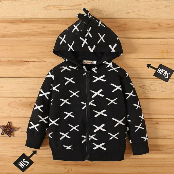Boys  X Pattern Printed Jacket Wholesale Toddler Boy Clothes