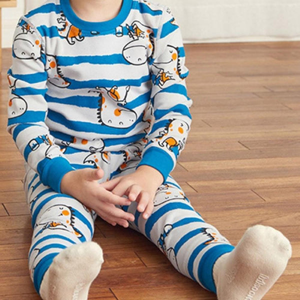 Kid Boys Little Monster Printed Tracksuit Set Boys Casual Suits