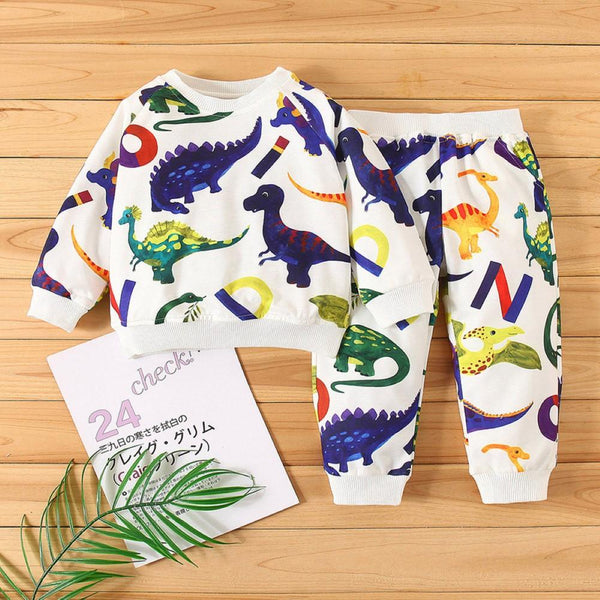 Kid Boys Various Dinosaurs Printed Suits Baby Boy Dinosaur Clothes