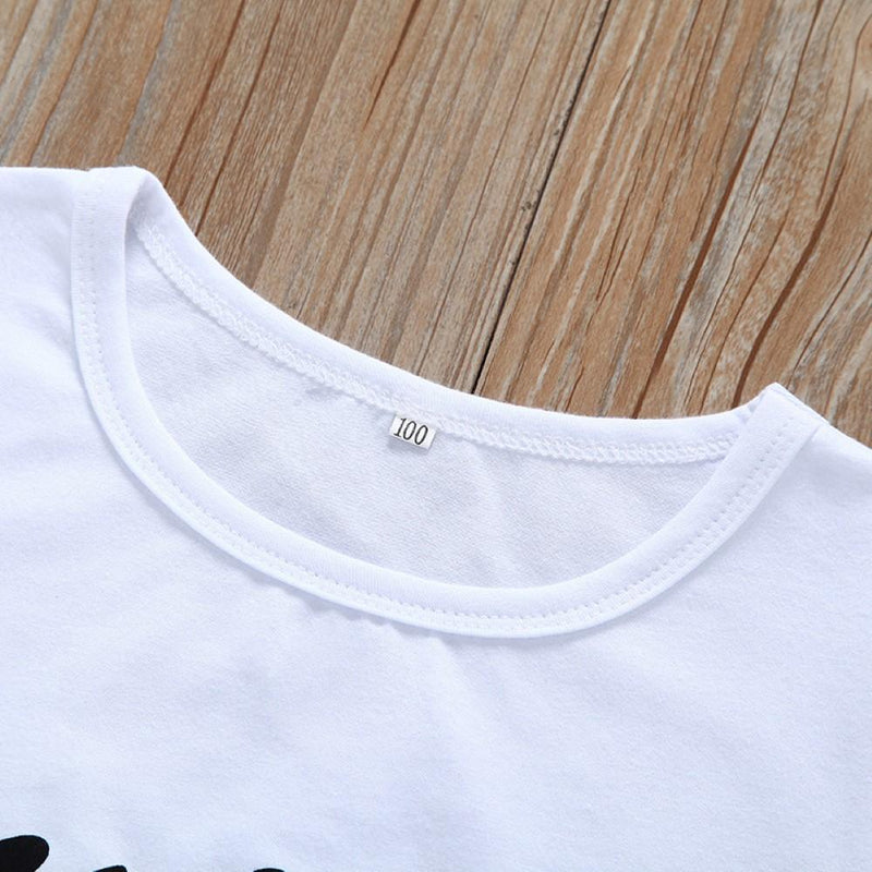 Boys Summer Boys' Solid Color Letter Print Round Neck Short Sleeve T-Shirt Wholesale Boys Boutique Clothing