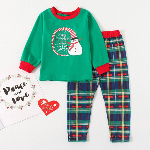 Boys Christmas Snowman Printed Tracksuit Wholesale Boys Suits