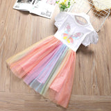 Girls Summer Girls' Butterfly Print Princess Skirt Wholesale Girl Clothing