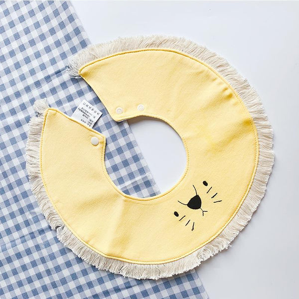 Baby Cotton Saliva Towel Round Rotatable Baby Bib 0-1-2 years old Bibs