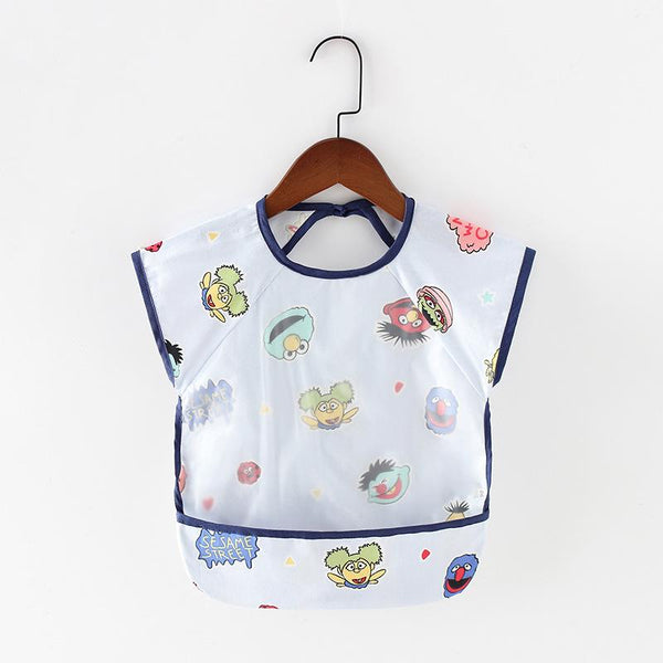 Children's Gowns Anti-wearing Baby Water-proof Sleeveless Eating Bib