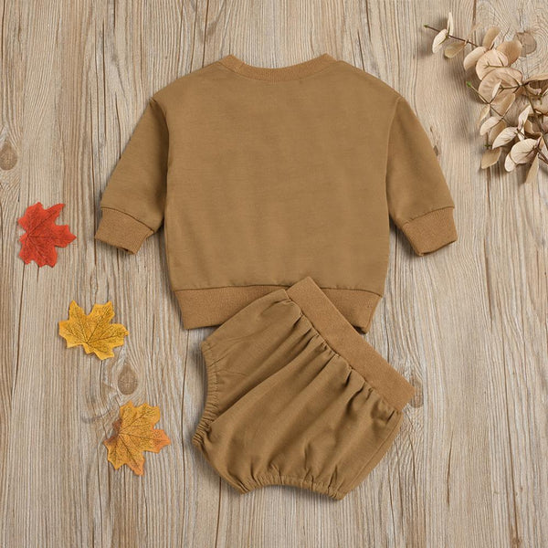 Casual Long Sleeve Rainbow Top & Short Baby Clothes Suppliers