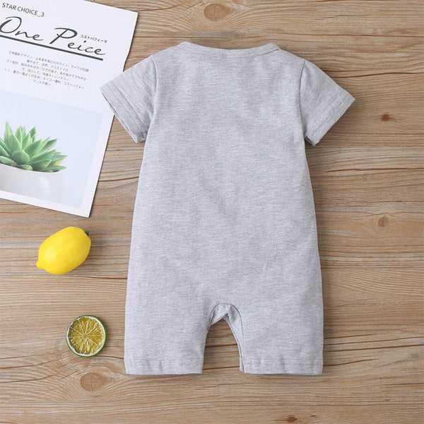 Boys Summer Baby Boy's Letter Print Short Sleeve Round Neck Jumpsuit Buy Baby Clothes Wholesale