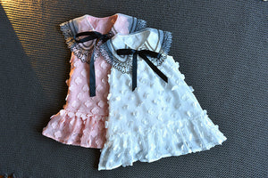 Girls Trendy Sleeveless Lace Mesh Dress Butterfly Decor Princess Skirt