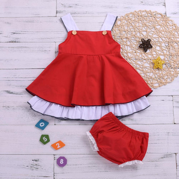 Girls Summer Baby Girls' Solid Suspender Skirt & Shorts Girls Dresses Wholesale
