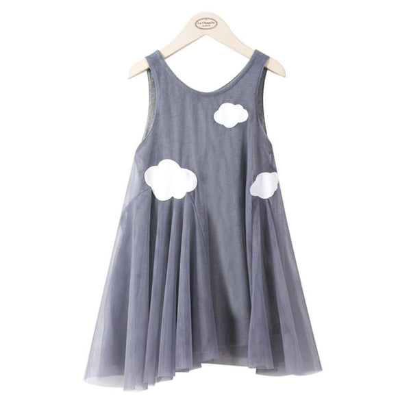 Girls Summer Girl's Solid Pattern Screen Dress Girls Clothes Wholesale