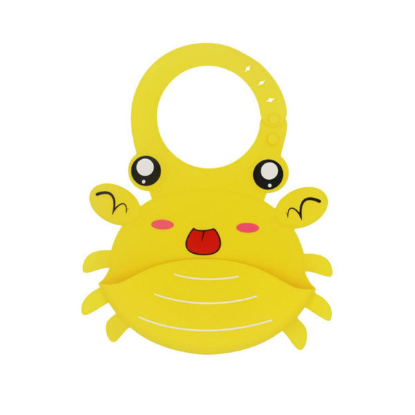 Cute Crab Pattern Baby Silicone Saliva Pad Baby Accessories Wholesale