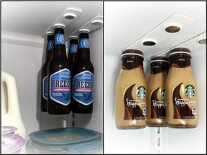 Refrigerator magnet bottle suction device