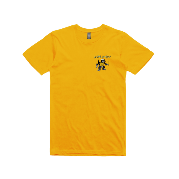 GUN CAT / YELLOW T-SHIRT