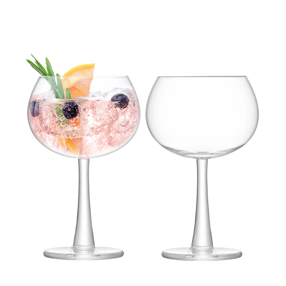 Gin Balloon Glass 420ml Clear x 2