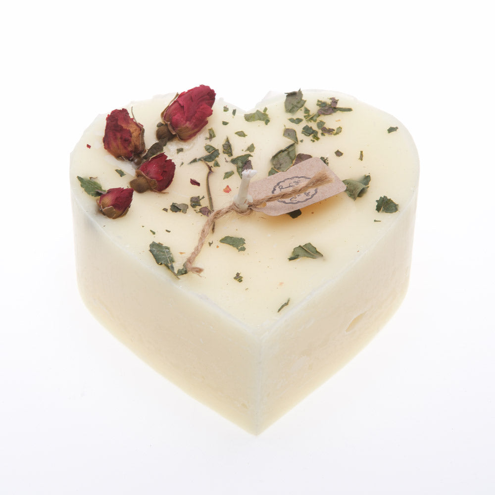 Champagne & Roses Heart Candle