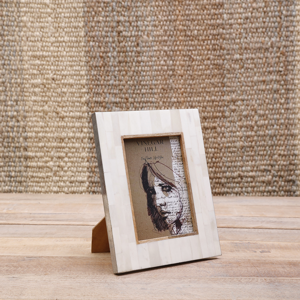 Natural White Bone Photoframe 5x7
