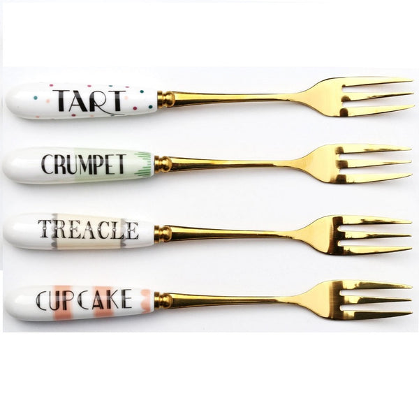 Cheeky Cake Forks Set of 4