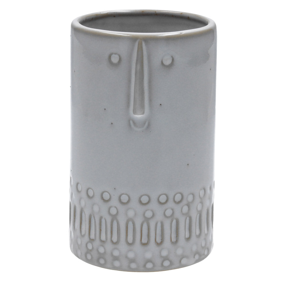 Glazed Face Vase - Tall