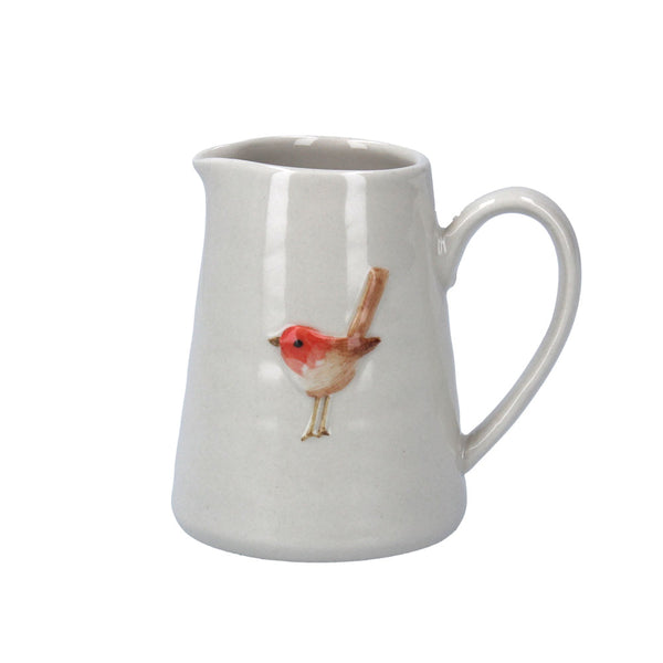 Mini Jug with Robin