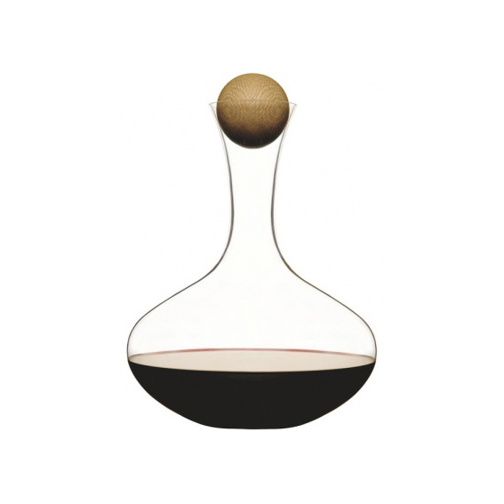 Red wine carafe w oak stopper