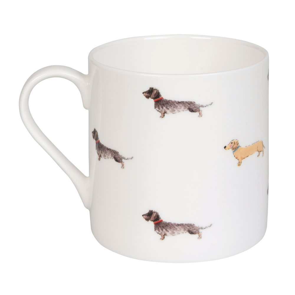 Dachshund hot dogs large mug