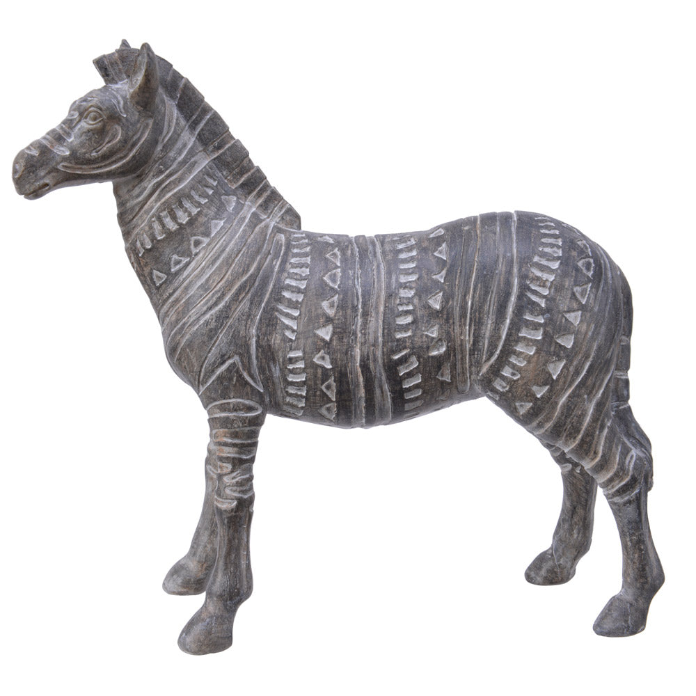 Encarved Zebra Ornament