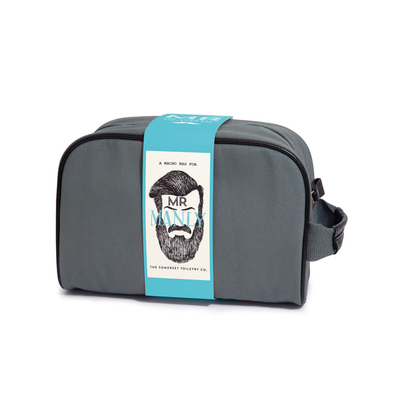 Mens toiletry zipper bag Mr Manly