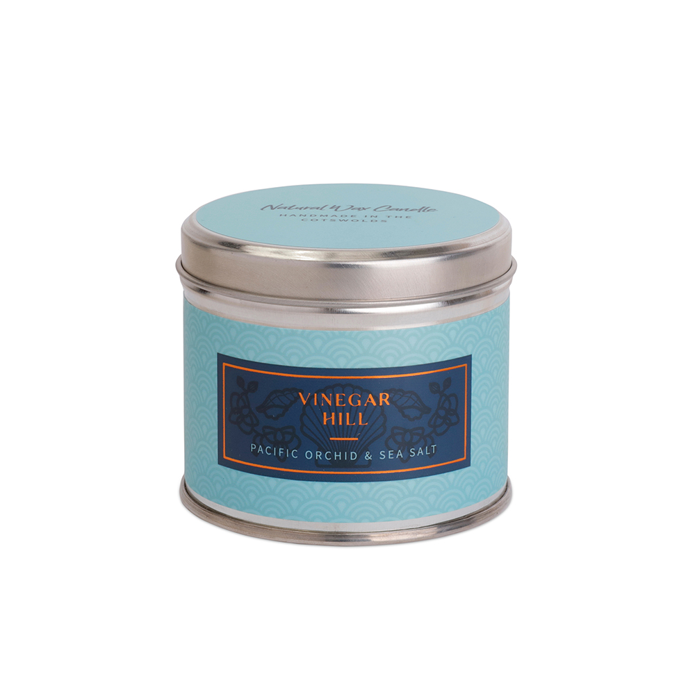 Pacific Orchid & Sea Salt Scented Candle Tin - Medium
