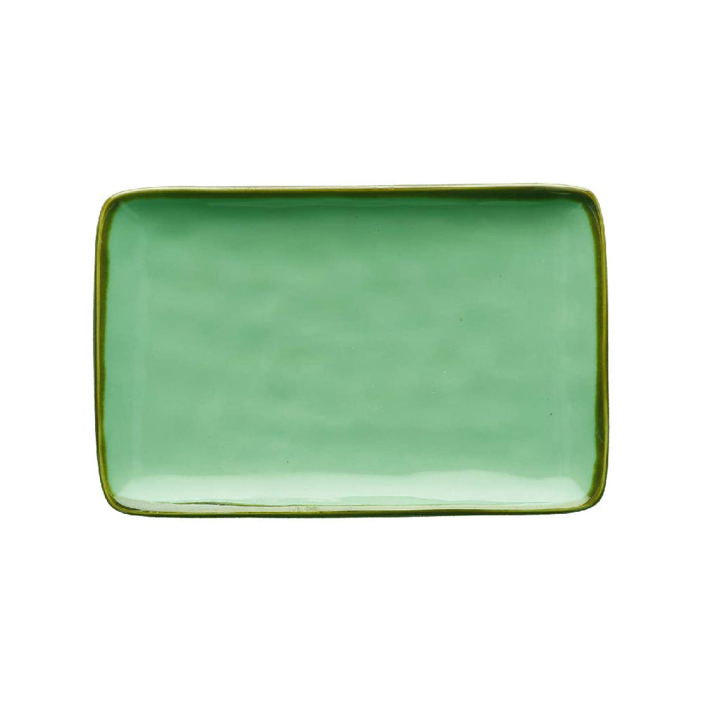 Green Rectangular Tray - Medium