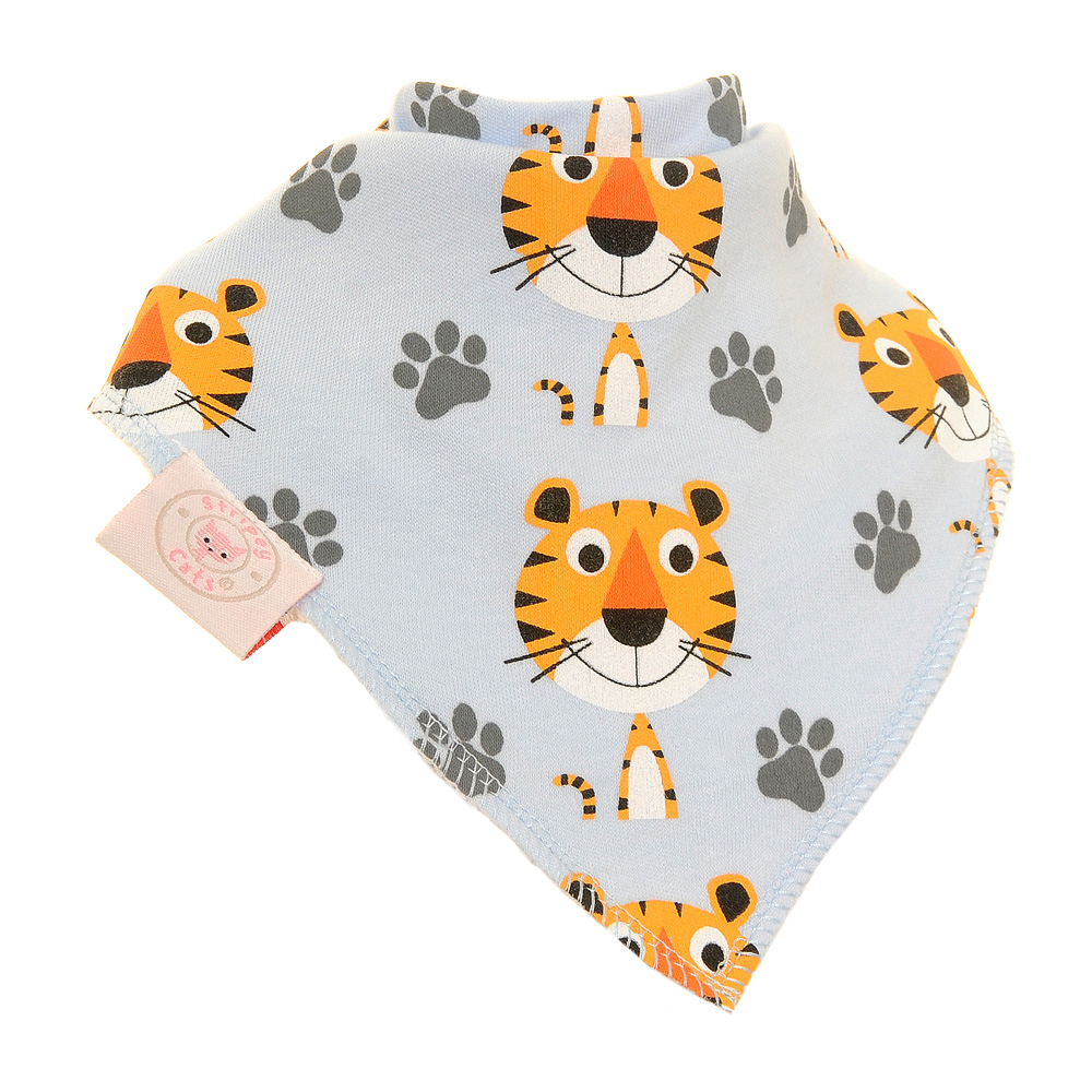 Terrence Tiger Stripey Cat Single Bandana Bib