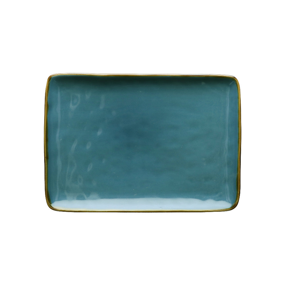Blue Rectangular Tray - Medium