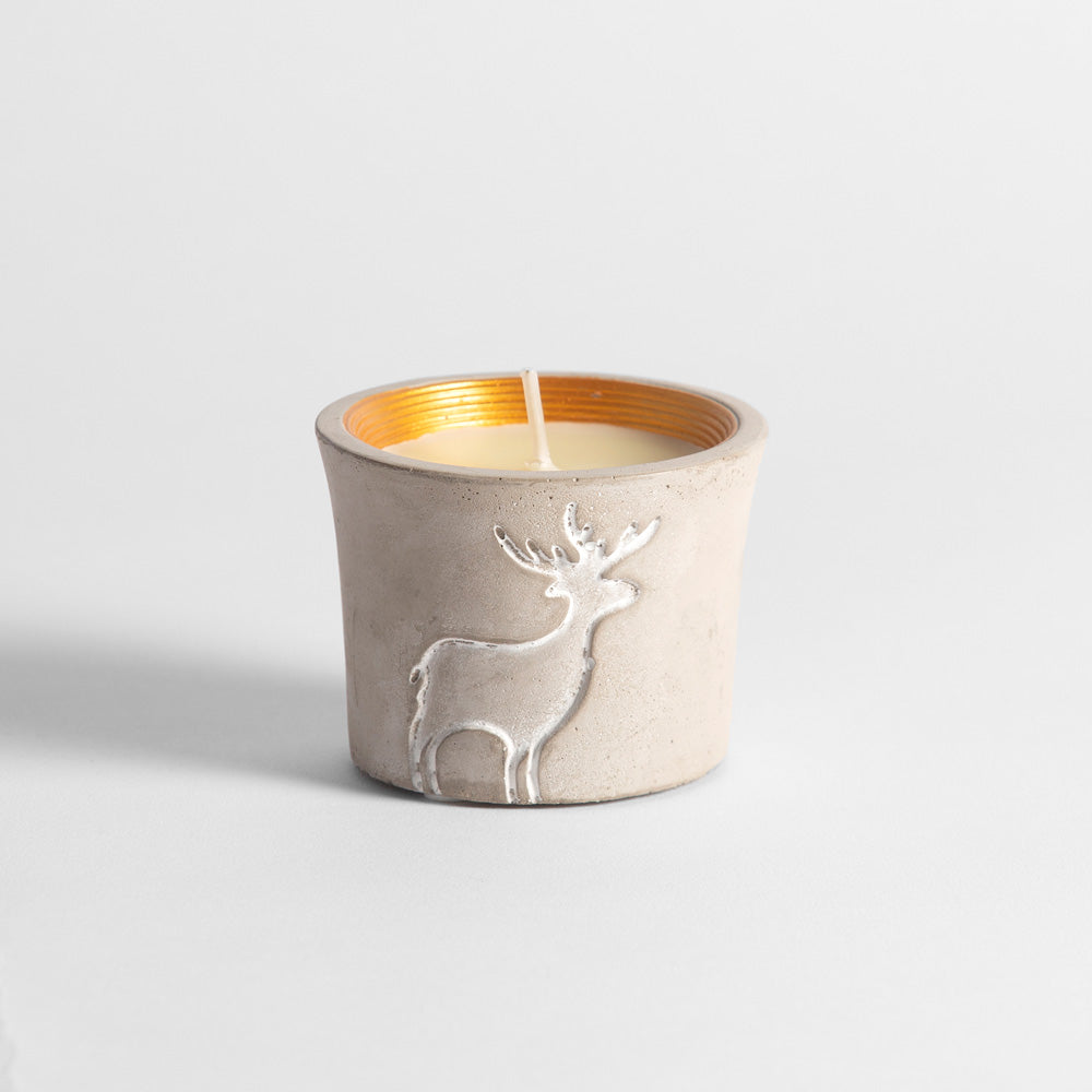 Reindeer Pot Orange & Cinnamon